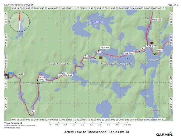 Artery Lake to %22Moosebone%22 Rapids (W14)