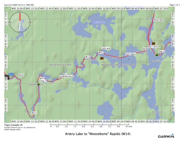 Artery Lake to %22Moosebone%22 Rapids (W14)