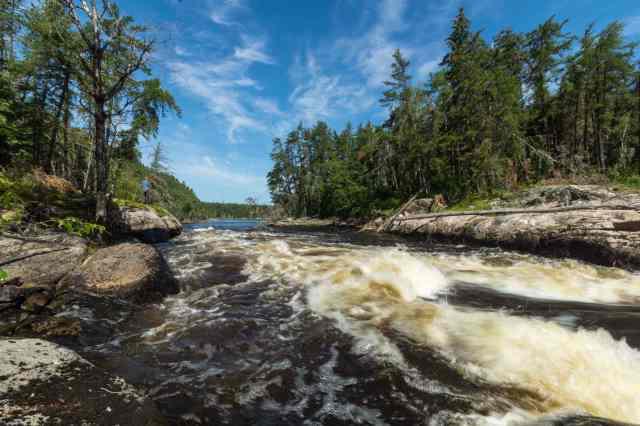Bloodvein - looking down W27 rapids