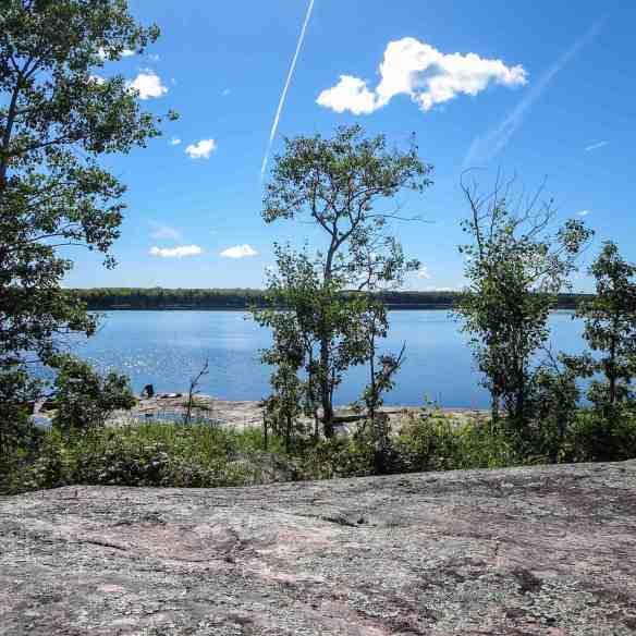 Bushey Lake campsite on west side of lake