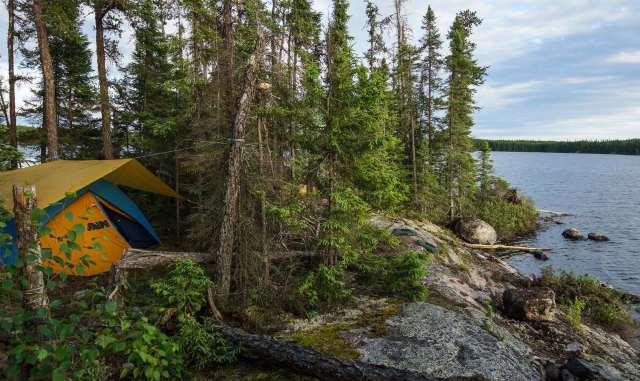 Crystal Lake island camp