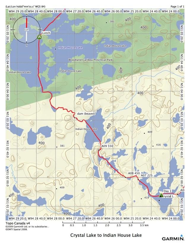 Crystal Lake to Indian House Lake