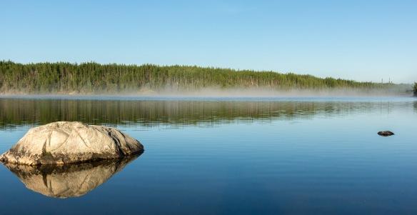 Crystal Lake early morning sunshine