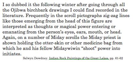 Dewdney. shaman figure explanation.