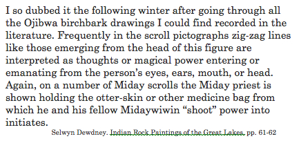 Dewdney. shaman figure explanation.