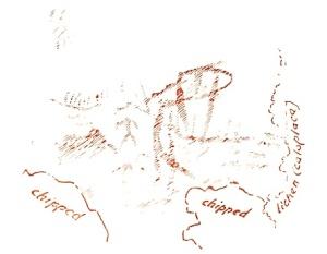 Dewdney Sketch of Artery Lake Face III