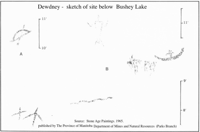 Dewdney - sketch of site below Bushey Lake