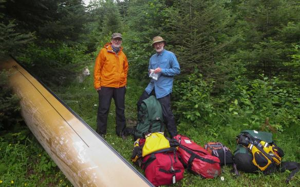it begins with a 880 meter portage!
