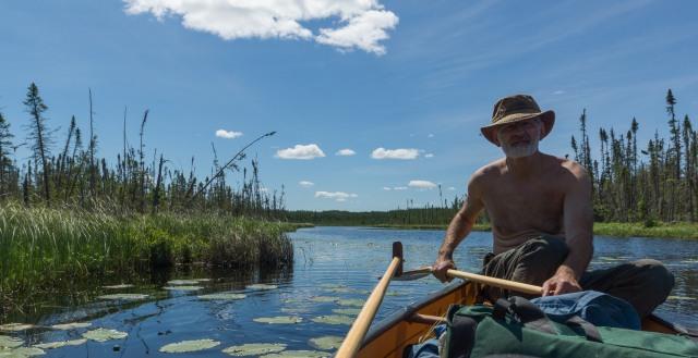 one stern paddler - my bro Max!