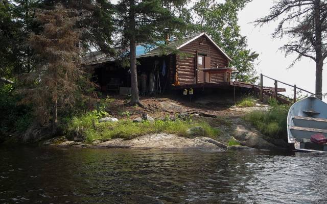 outpost:cabin on Murdock Lake