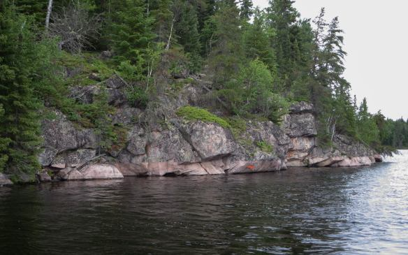 pictograph Island on Red Lake