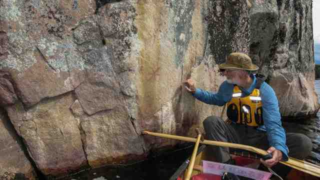 pictographs at Artery Lake central