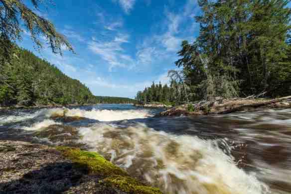 Rapids on the Bloodvein - called %22X-Rock%22 by Wilson:Aykroyd