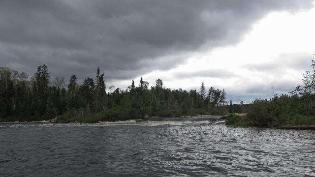 rapids to the north of the island with the marine railway