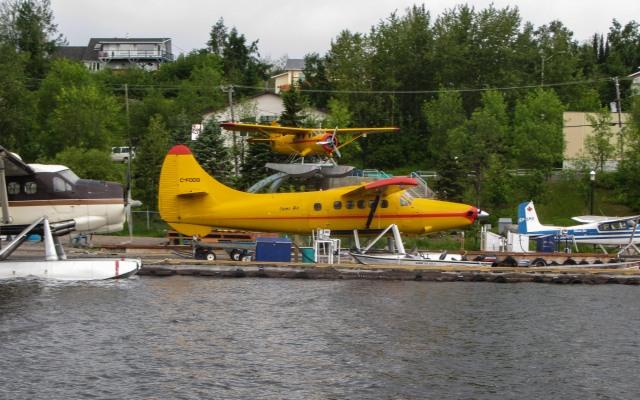 Red Lake town docks