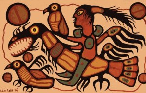 Morrisseau - shaman riding Thunderbird