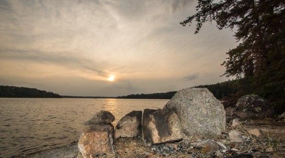 sunset on Murdock Lake