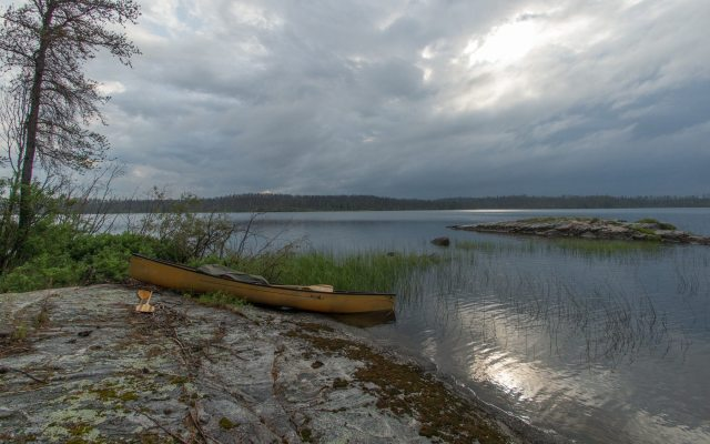 taking advantage of the light on Lake Murdock after the storm