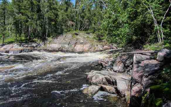 the bottom of Bloodvein Rapids #21