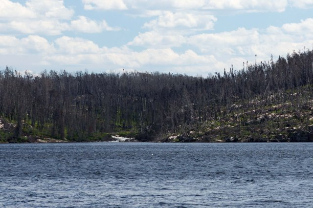 The Cauldron as viewed from the Larus Lake spit to the west