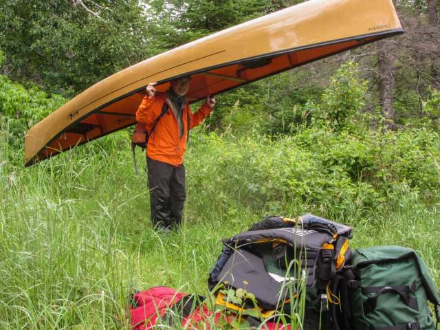 two Hooligan packs, two duffels - and one canoe