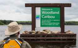 Woodland Caribou Park sign