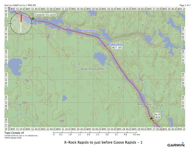 X-Rock Rapids to just before Goose Rapids - 1