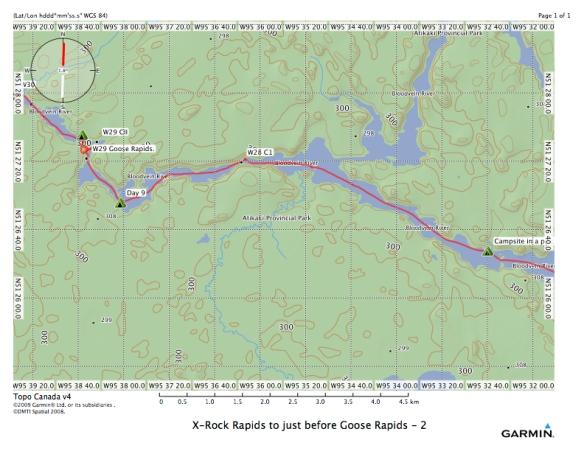 X-Rock Rapids to just before Goose Rapids - 2