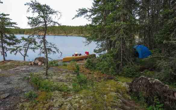 Bloodvein Campsite above Goose Rapids