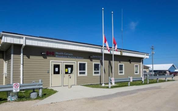 Bloodvein's new Nursing Station on Main Street