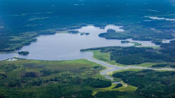 Bushey Lake on the Bloodvein River system