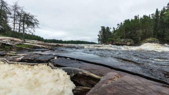 Chap Falls foam and water