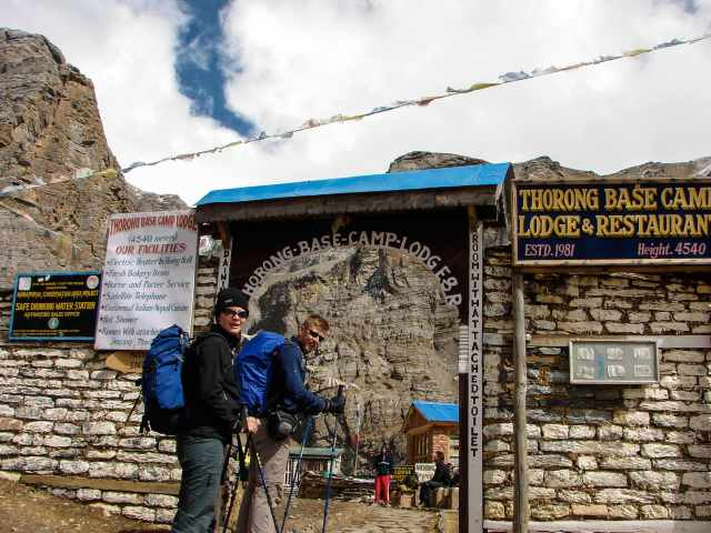 Entering Thorung Phedi Base Camp Lodge