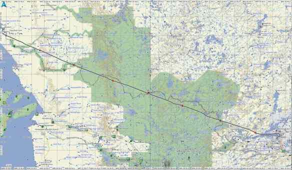 Bloodvein flight path back to Red Lake