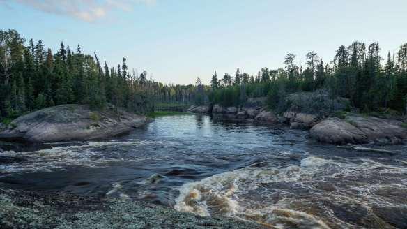 Lagoon Run on the Bloodvein - side view
