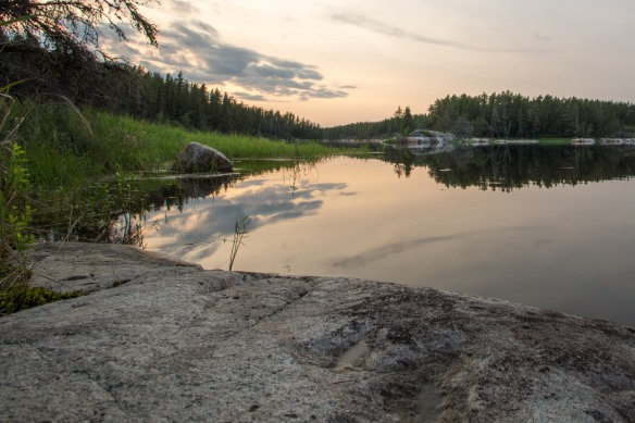 looking south to Goose Rapids and the next morning's portage