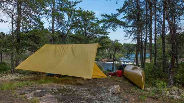 Namay Falls (W80) campsite on the Bloodvein