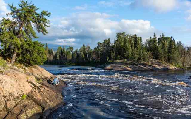 the Lagoon Run rapids(W86) on the Bloodvein