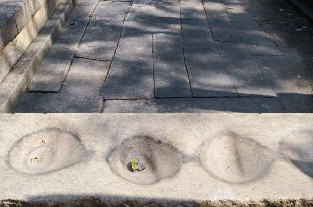 Abhayagiri Bath House detail - purpose unclear to me