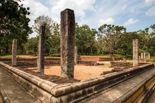 Abhayagiri buidling foundation and pillars
