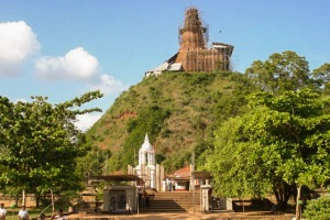 abhayagiri dagoba during reclamation