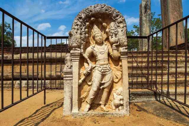 guardstone in front of Abhayagiri shrine