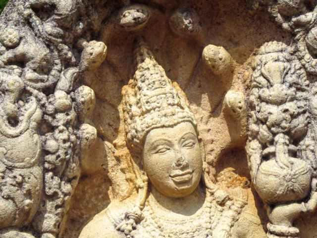 nagaraja guardstone with seven-headed cobra crown