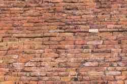 new brickwork on the Abhayagiri Dagoba