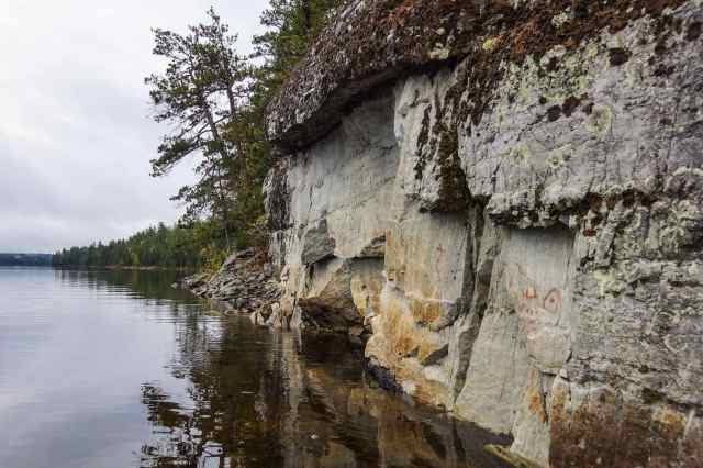 The Diamond Lake Pictograph Site - view from the north