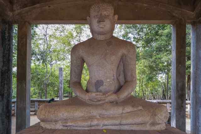 The Samadhi Buddha at Anuradhapura's Abhayagiri Monastery