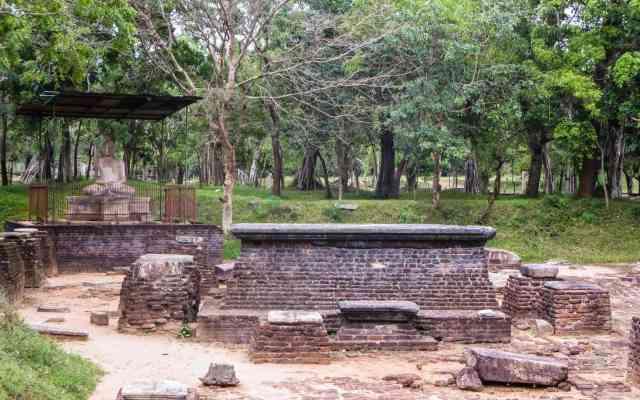 the third of four Abhayagiri Buddha in Samadhi pose statues