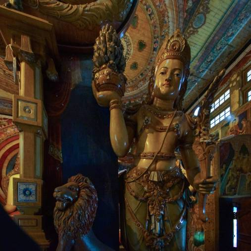 another Bodhisattva figure - perspective correction in Adobe Lightroom!