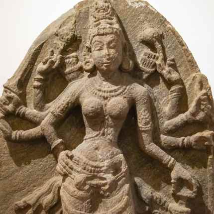 another Durga sculpture from 10 th C C.E. Anuradhapura