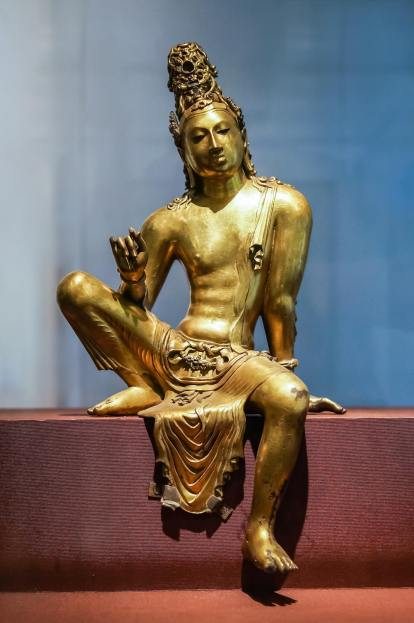 Avalokitesvara bronze from Veheregala near Anuradhapura - height 49.8 cm.j 800's C.E